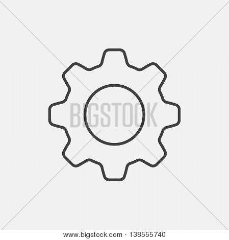 Settings. Line Icon Vector. Cog sign isolated on white background. Flat design style.