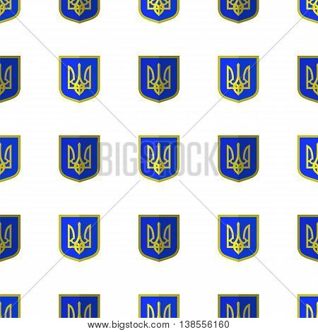 Symbol of Ukraine Background. Seamless Ukrainian Pattern