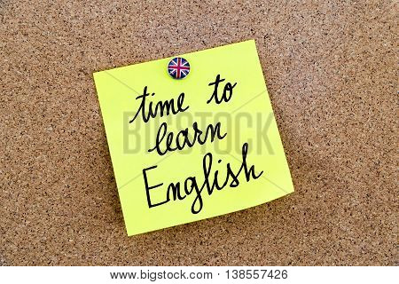 Written Text Time To Learn English