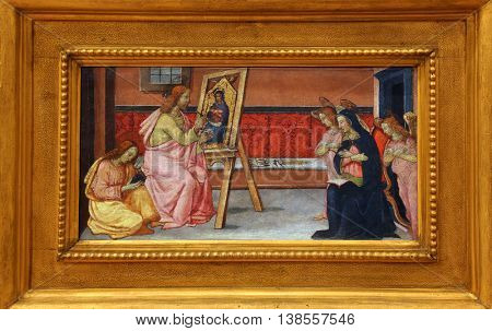 ZAGREB, CROATIA - DECEMBER 08: Francesco di Gentile: St. Luke paints the Virgin, Old Masters Collection, Croatian Academy of Sciences, December 08, 2014 in Zagreb, Croatia