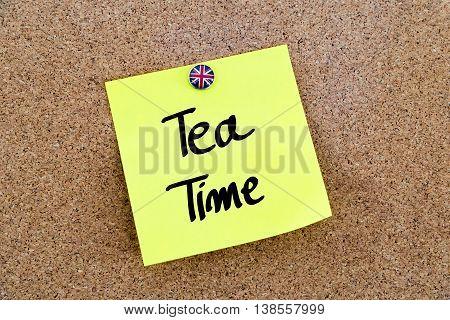 Written Text Tea Time