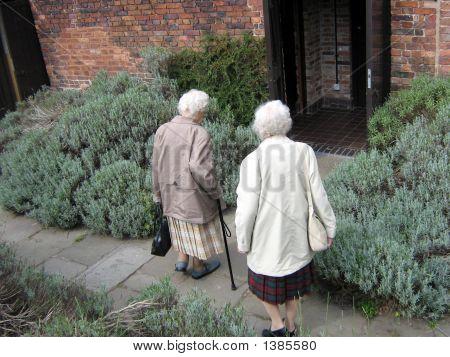 Women/ Visitors Entering Together
