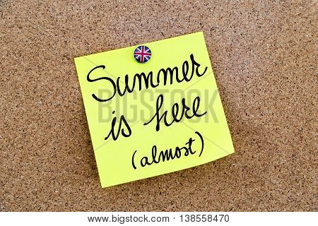 Written Text Summer Is Almost Here