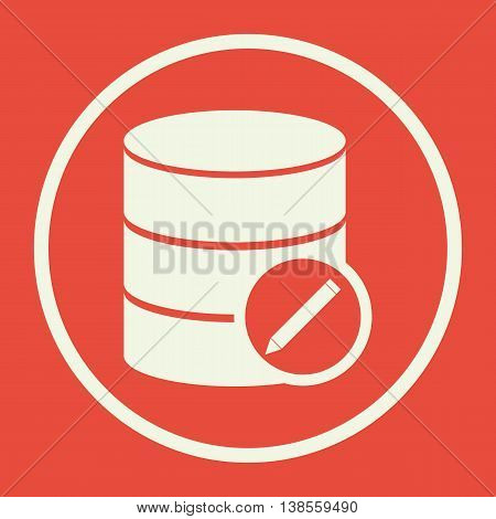 Database Edit Icon In Vector Format. Premium Quality Database Edit Symbol. Web Graphic Database Edit