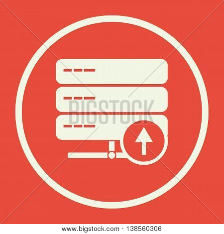 Server Up Icon In Vector Format. Premium Quality Server Up Symbol. Web Graphic Server Up Sign On Red