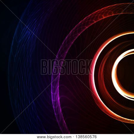 Colorful abstract background, futuristic shapes illustration, art concept