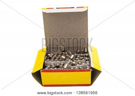fuses power voltage  isolated on a white background