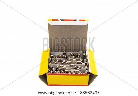power voltage fuses isolated on a white background