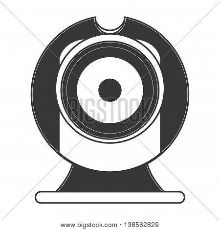 flat design hd webcam icon vector illustration