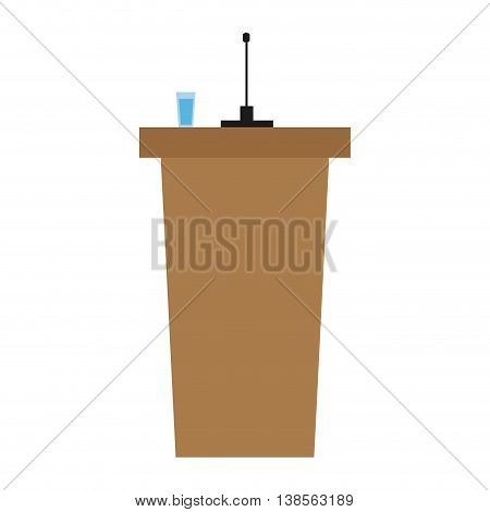 flat design stand with microphone icon vector illustration