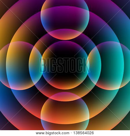 Abstract circle vibrant background. Colorful Sphere. Vector EPS 10