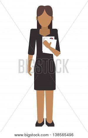 simple flat design faceless business woman portrait icon vector illustration
