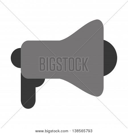 flat design single megaphone vector illustration vector illustration