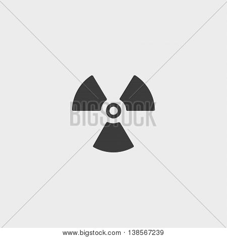 Radiation icon in a flat design in black color. Vector illustration eps10
