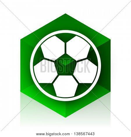 soccer cube icon, green modern design web element