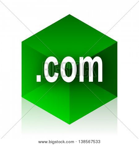 com cube icon, green modern design web element