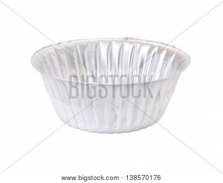 Single mold tin for bakery on white background.