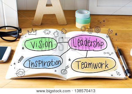 Leadership Concept With Notebook