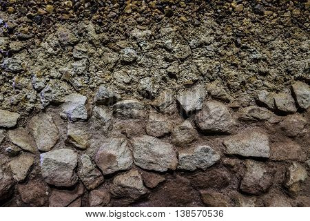 soil and rock texture background indicate the layers of soil and rock.