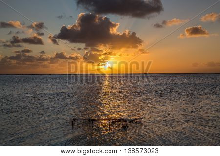 Sunset in Le Morne Mauritius background pichture