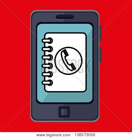 smartphone and notebook phone isolated icon design, vector illustration  graphic