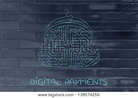 Electronic Circuit Coin Purse, Digital Payment Technologies