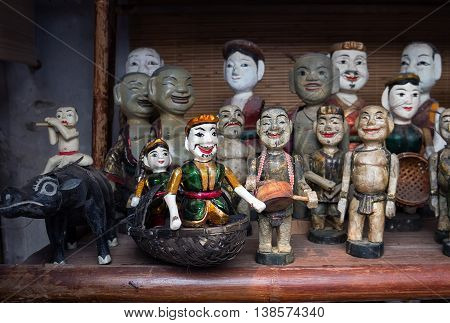 HA NOI, VIET NAM, March 12, 2016 puppets, art form of water puppetry, Ha Noi, Vietnam