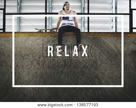 Relax Calm Chill Happiness Resting Vacation Concept