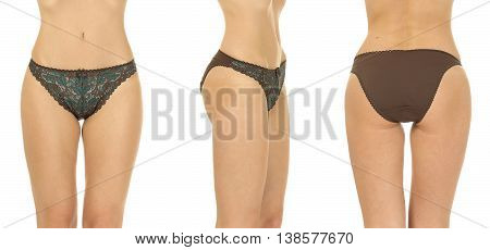 Beautiful Slim Female Buttocks Isolated On White Background