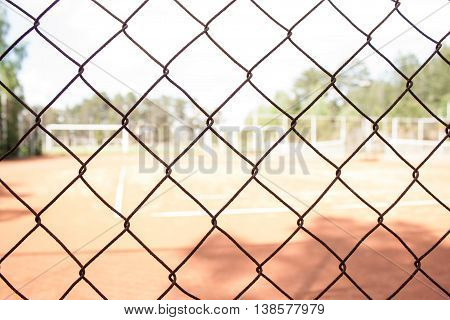 steel mesh at tennis court.sports background image