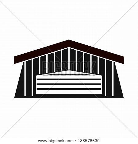 Barn icon in simple style. Building symbol isolated vector illustration