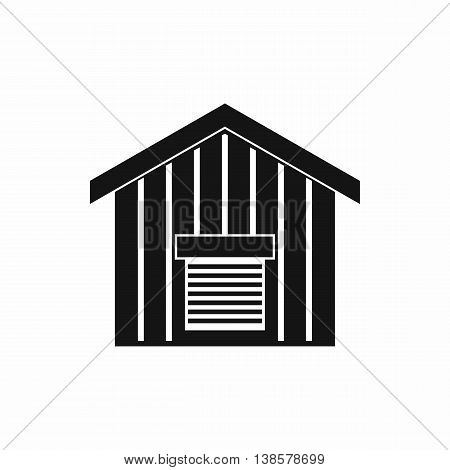 Large barn icon in simple style. Building symbol isolated vector illustration