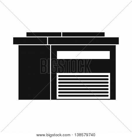 High barn icon in simple style. Building symbol isolated vector illustration