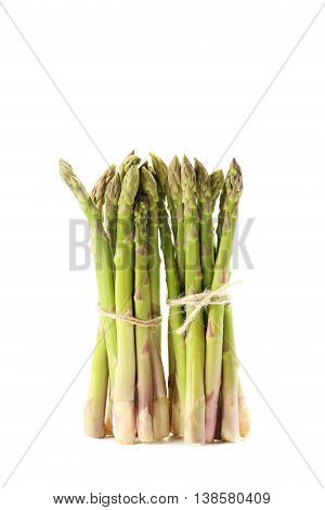 Fresh Green Asparagus Isolated On A White