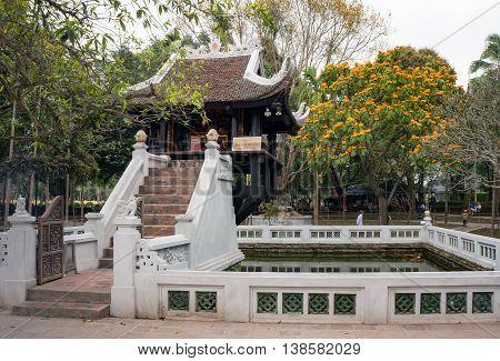 HA NOI, VIET NAM, January 23, 2016 ancient temples, Buddhist monuments in Ha Noi, Vietnam, very unique in architecture