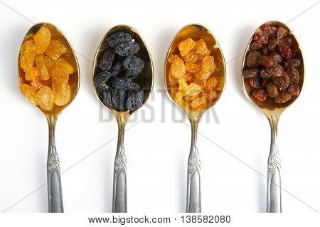 Four Spoon With Raisin