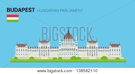 Monuments and landmarks Vector Collection: Hungarian Parliament. Descripción: Vector illustration of Hungarian Parliament (Budapest, Hungary). Monuments and landmarks Collection. EPS 10 file compatible and editable.