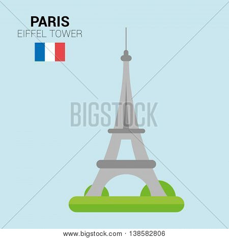 Monuments and landmarks Vector Collection: Eiffel Tower. Descripción: Vector illustration of Eiffel Tower (Paris, France). Monuments and landmarks Collection. EPS 10 file compatible and editable.