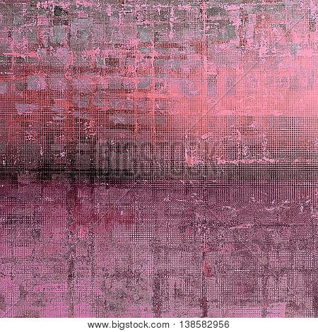 Aged textured background, macro closeup grungy backdrop with different color patterns: gray; black; purple (violet); pink