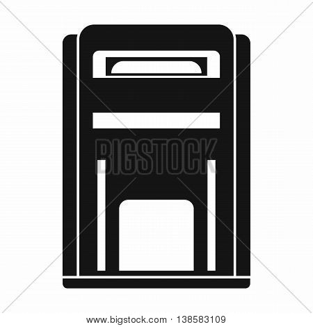 Square post box icon in simple style isolated vector illustration
