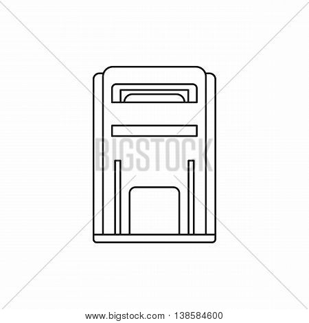 Square post box icon in outline style isolated vector illustration