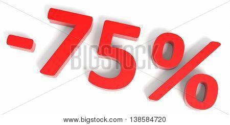 Discount 75 Percent Off Sale.