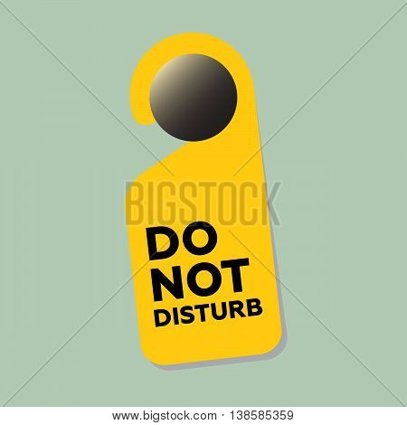 Do not disturb sign on the door vector