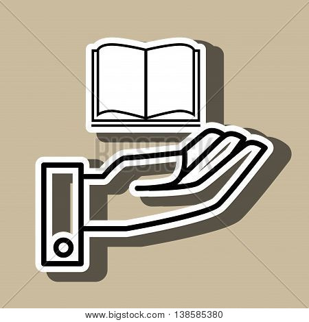 hand and book isolated icon design, vector illustration  graphic
