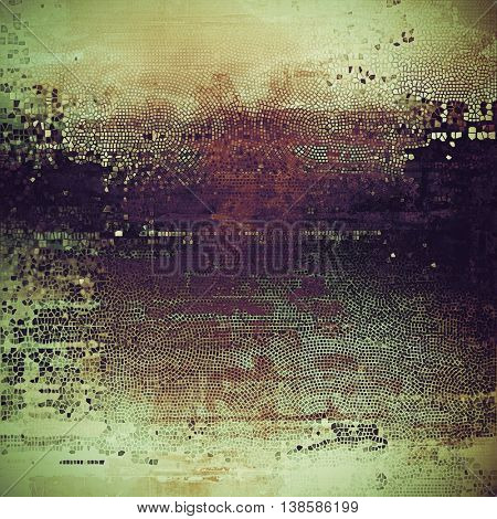 Ancient texture or damaged old style background with vintage grungy design elements and different color patterns: yellow (beige); brown; gray; black; green; purple (violet)