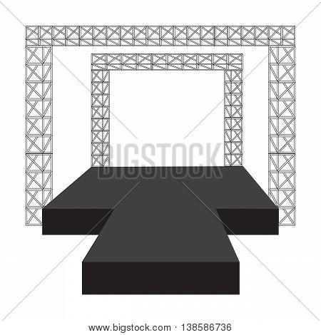 Fashion runway podium stage vector illustration eps10