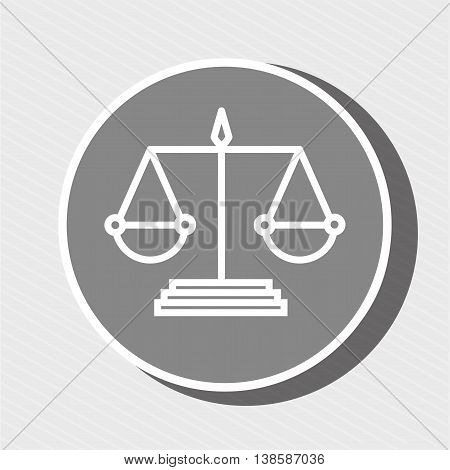 symbol of justice isolated icon design, vector illustration  graphic