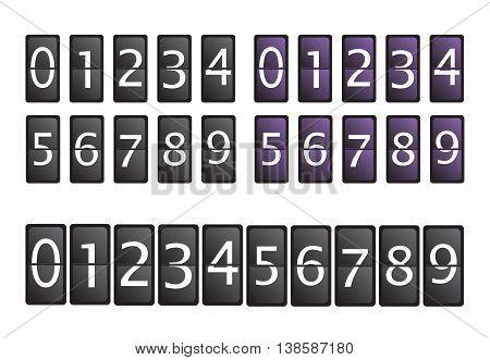 Count timer set vector illustration eps 10