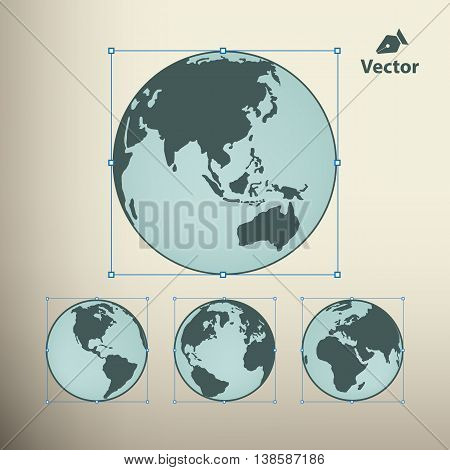 Earth Vector Design Element. Earth Vector EPS10 for your ecology or Earth concept design.