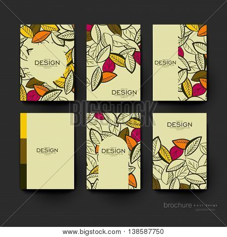 autumn leaf ornament vector brochure template. Flyer Layout. Creative modern design
